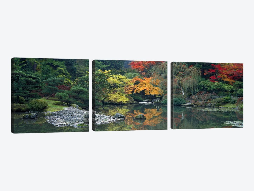 The Japanese Garden Seattle WA USA by Panoramic Images 3-piece Canvas Art