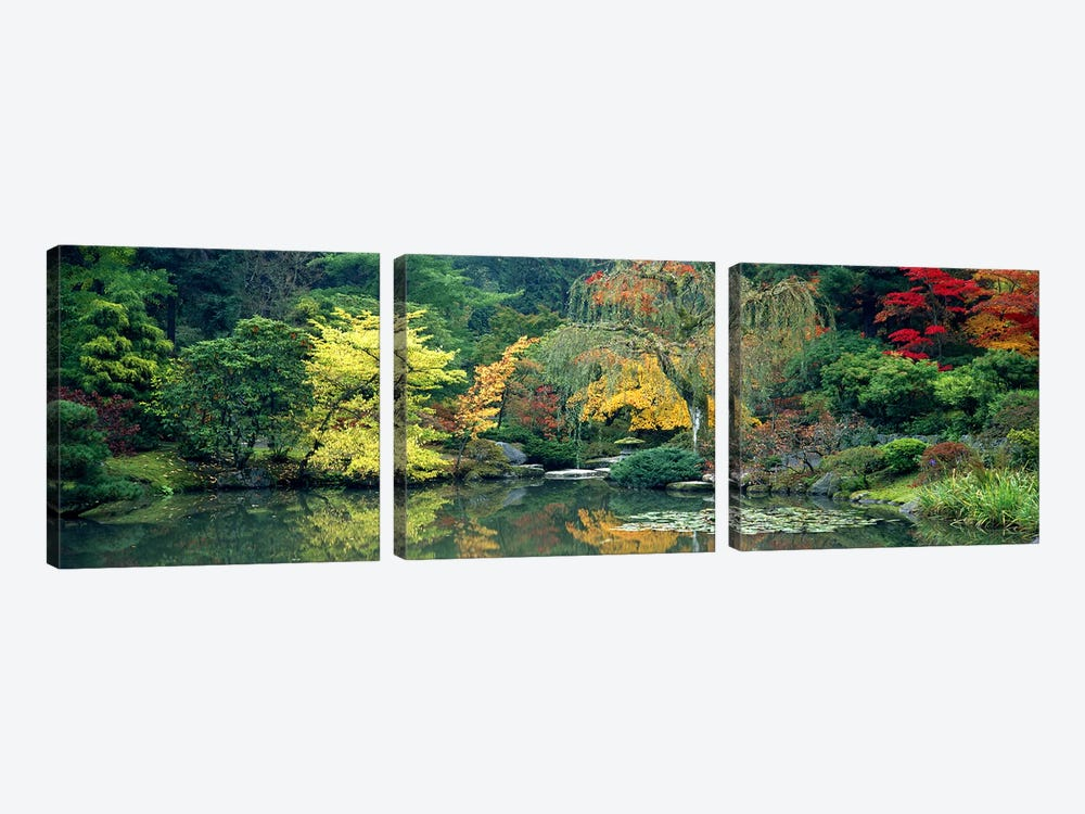 The Japanese Garden Seattle WA USA by Panoramic Images 3-piece Canvas Print