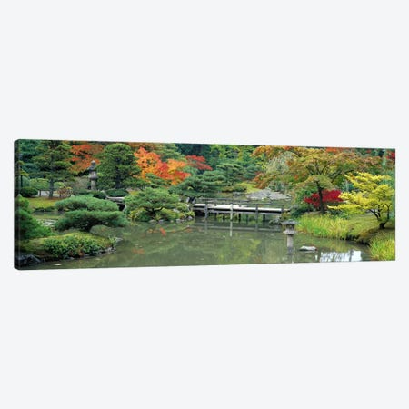 Plank BridgeThe Japanese Garden, Seattle, Washington State, USA Canvas Print #PIM2635} by Panoramic Images Canvas Print
