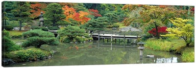 Plank BridgeThe Japanese Garden, Seattle, Washington State, USA Canvas Print #PIM2635