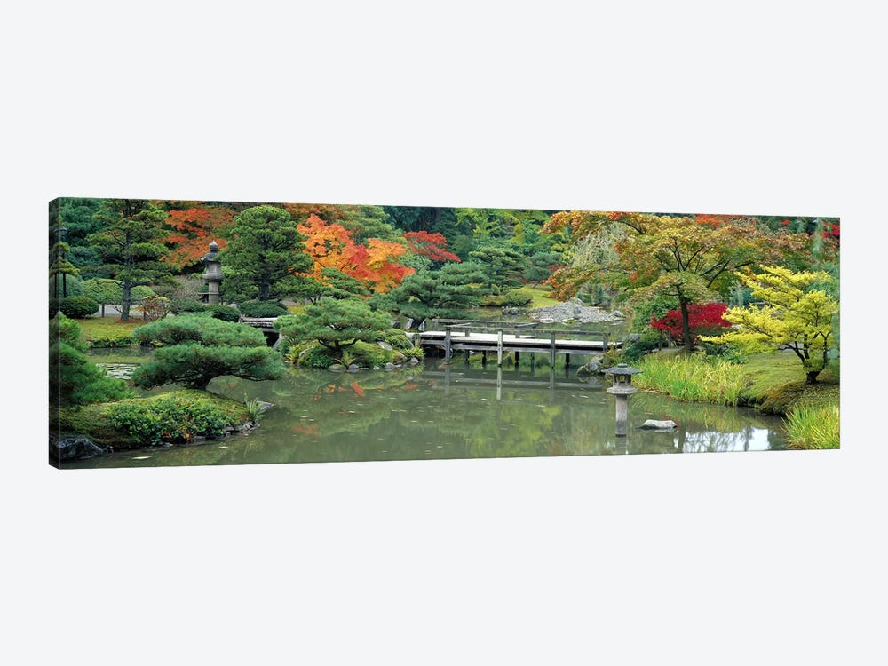 Plank BridgeThe Japanese Garden, Seattle, Washington State, USA by Panoramic Images 1-piece Canvas Art