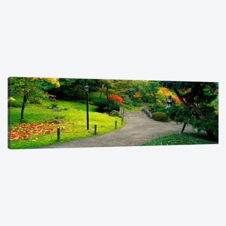 Stone BridgeThe Japanese Garden, Seattle, Washington State, USA Canvas Print #PIM2636} by Panoramic Images Canvas Art Print
