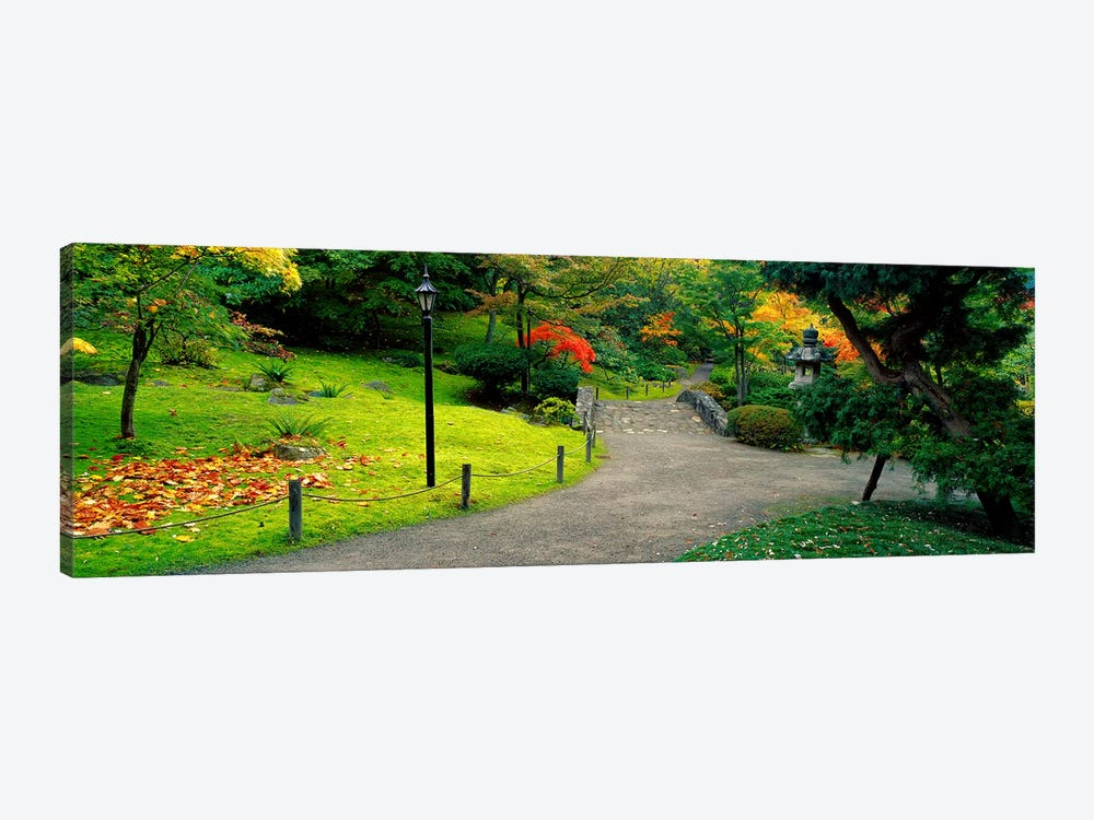 Stone BridgeThe Japanese Garden, Seattle, Washington State, USA 1-piece Canvas Art Print