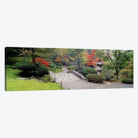 Stone BridgeThe Japanese Garden, Seattle, Washington State, USA Canvas Print #PIM2637} by Panoramic Images Canvas Art Print