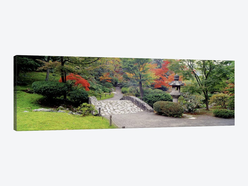 Stone BridgeThe Japanese Garden, Seattle, Washington State, USA by Panoramic Images 1-piece Canvas Artwork