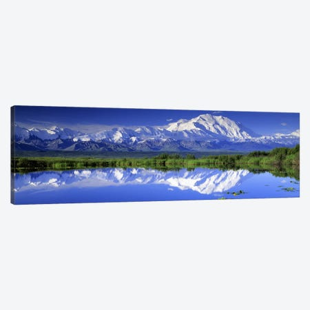 Denali (Mount McKinley), Denali National Park & Preserve, Alaska, USA Canvas Print #PIM2638} by Panoramic Images Canvas Wall Art