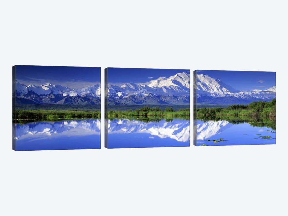 Denali (Mount McKinley), Denali National Park & Preserve, Alaska, USA by Panoramic Images 3-piece Art Print