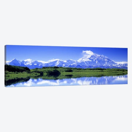 Wonder Lake, Denali (Mount McKinley), Denali National Park & Preserve, Alaska, USA Canvas Print #PIM2639} by Panoramic Images Canvas Artwork