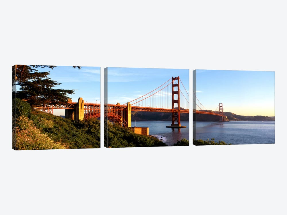 USA, California, San Francisco, Golden Gate Bridge by Panoramic Images 3-piece Canvas Wall Art