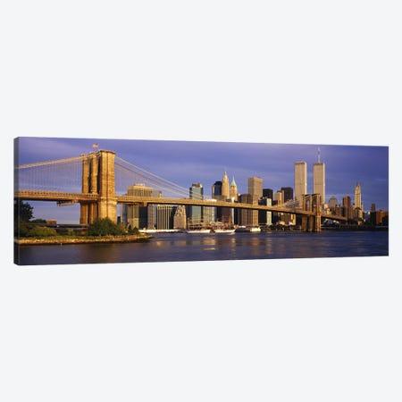 Brooklyn Bridge & Manhattan Skyline, New York City, New York, USA Canvas Print #PIM2641} by Panoramic Images Canvas Print