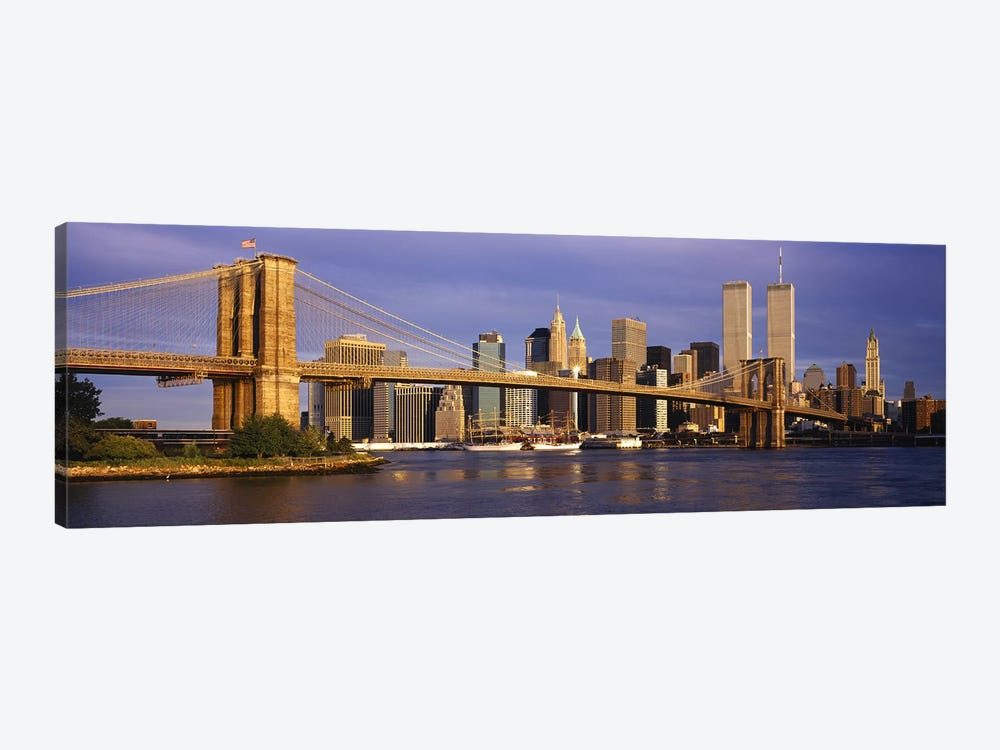 Brooklyn Bridge & Manhattan Skyline, New York City, New York, USA by Panoramic Images 1-piece Art Print