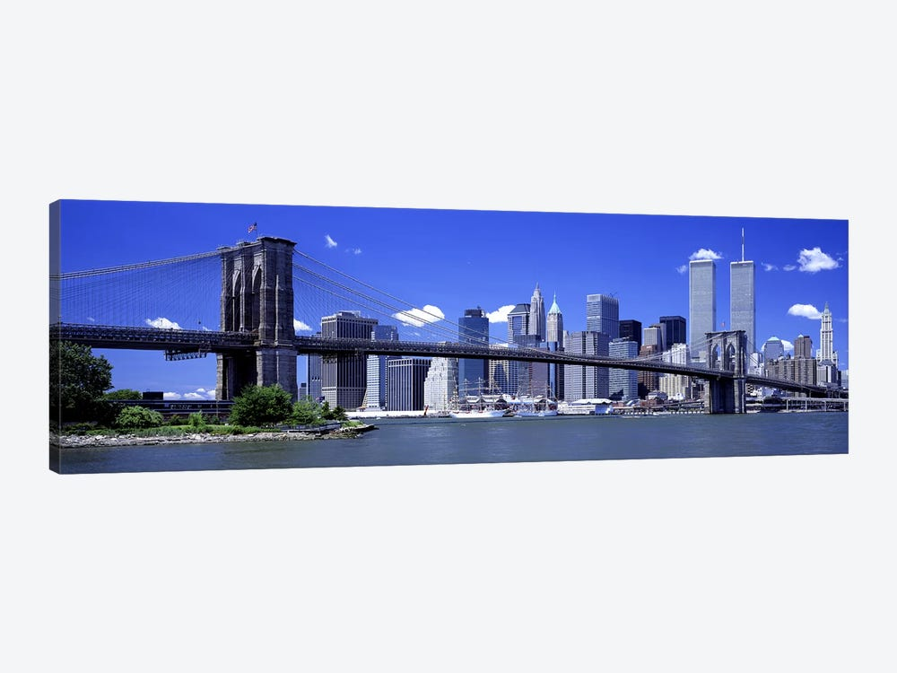 Brooklyn Bridge Skyline New York City NY USA by Panoramic Images 1-piece Canvas Wall Art