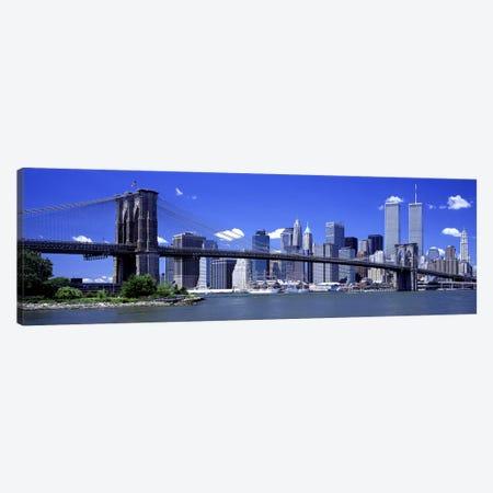 Brooklyn Bridge Skyline New York City NY USA Canvas Print #PIM2642} by Panoramic Images Art Print