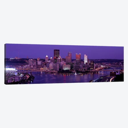 Dusk Pittsburgh PA USA Canvas Print #PIM2646} by Panoramic Images Canvas Art