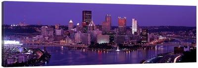 Dusk Pittsburgh PA USA Canvas Print #PIM2646