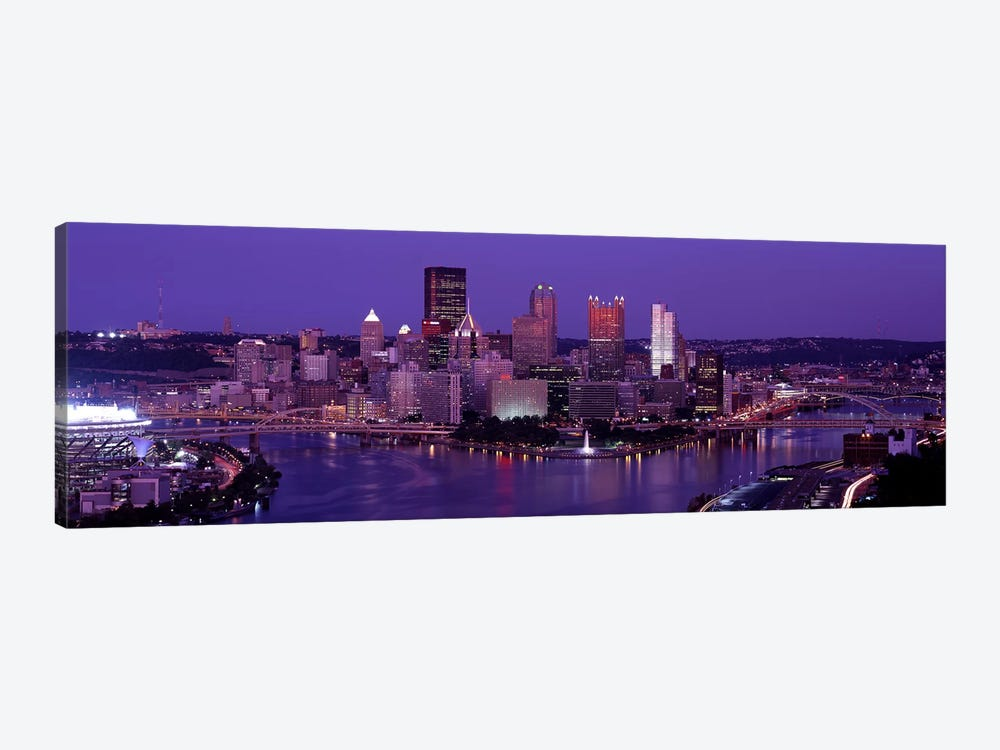 Dusk Pittsburgh PA USA by Panoramic Images 1-piece Canvas Art