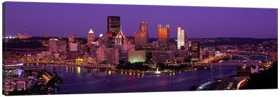 Dusk Pittsburgh PA USA Canvas Art Print