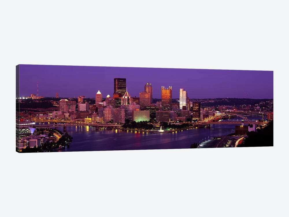 Dusk Pittsburgh PA USA by Panoramic Images 1-piece Canvas Art Print