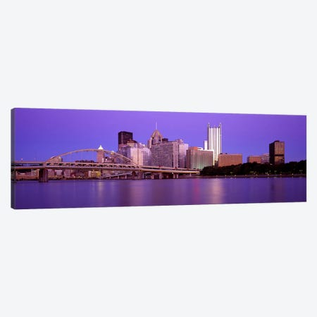 Allegheny River Pittsburgh PA Canvas Print #PIM2648} by Panoramic Images Art Print
