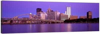 Allegheny River Pittsburgh PA Canvas Print #PIM2648