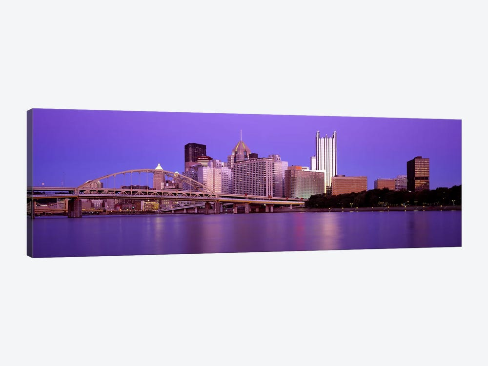 Allegheny River Pittsburgh PA by Panoramic Images 1-piece Canvas Artwork