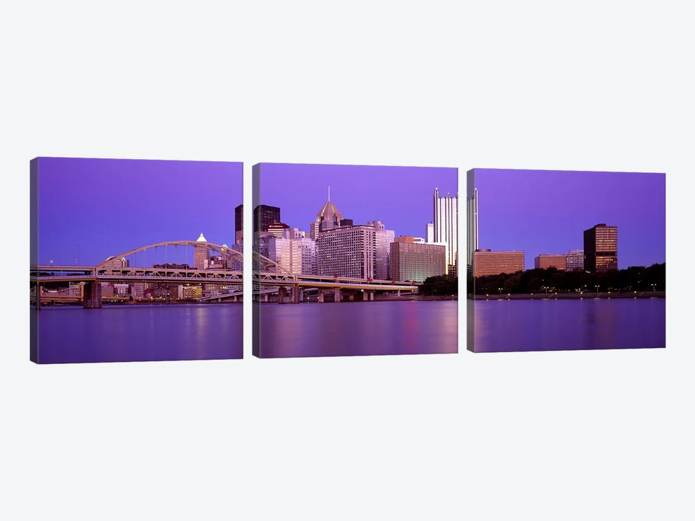 Allegheny River Pittsburgh PA by Panoramic Images 3-piece Canvas Art