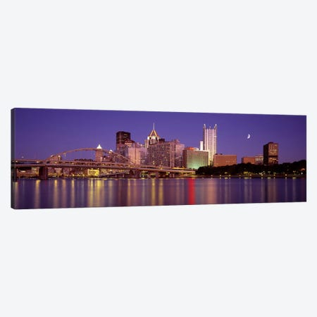 Allegheny River, Pittsburgh, Pennsylvania, USA Canvas Print #PIM2649} by Panoramic Images Art Print