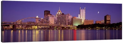 Allegheny River, Pittsburgh, Pennsylvania, USA Canvas Art Print