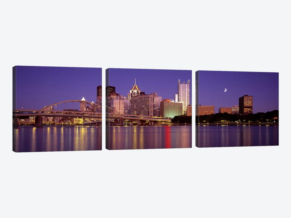 Allegheny River, Pittsburgh, Pennsylvania, USA by Panoramic Images 3-piece Canvas Print