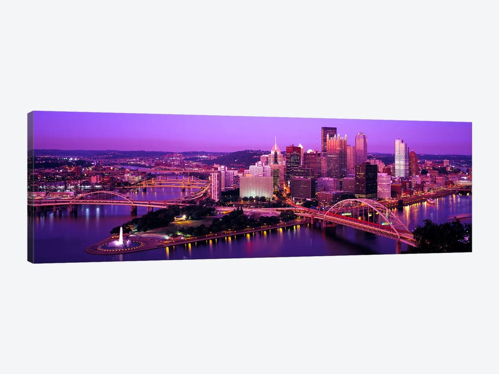 DuskPittsburgh, Pennsylvania, USA by Panoramic Images 1-piece Canvas Art Print