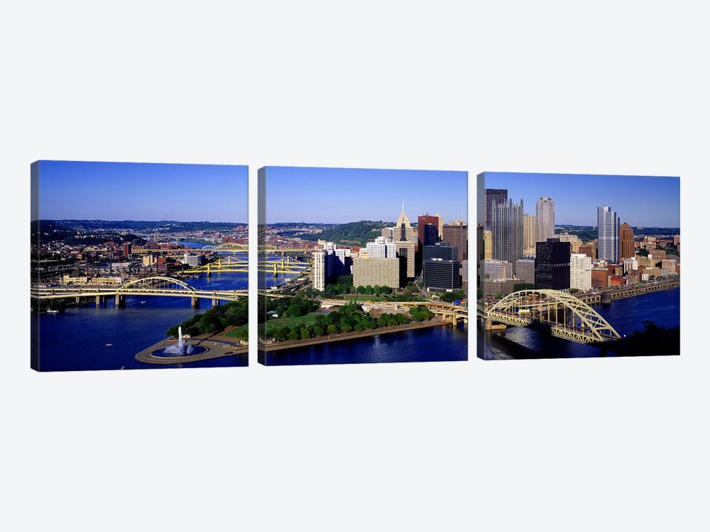 Pittsburgh, Pennsylvania, USA by Panoramic Images 3-piece Canvas Art