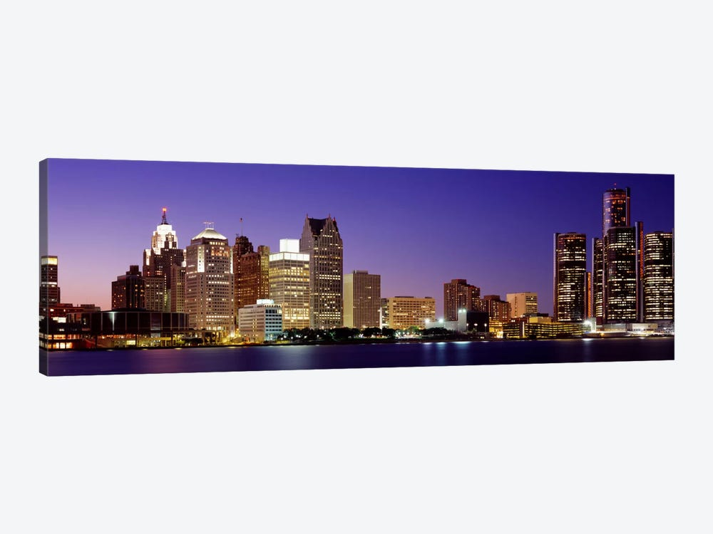 Dusk Detroit, Michigan, USA by Panoramic Images 1-piece Canvas Wall Art
