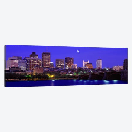 Longfellow Bridge & Financial District As Seen From East Cambridge, Boston Massachusetts, USA Canvas Print #PIM2654} by Panoramic Images Art Print