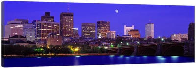 Longfellow Bridge & Financial District As Seen From East Cambridge, Boston Massachusetts, USA Canvas Print #PIM2654