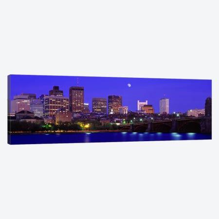 Longfellow Bridge & Financial District As Seen From East Cambridge, Boston Massachusetts, USA Canvas Print #PIM2654} by Panoramic Images Art Print