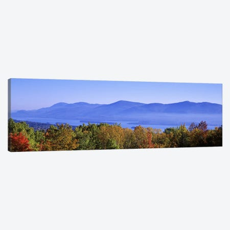 Lake George & Adirondack Mountains, New York, USA Canvas Print #PIM2660} by Panoramic Images Canvas Print