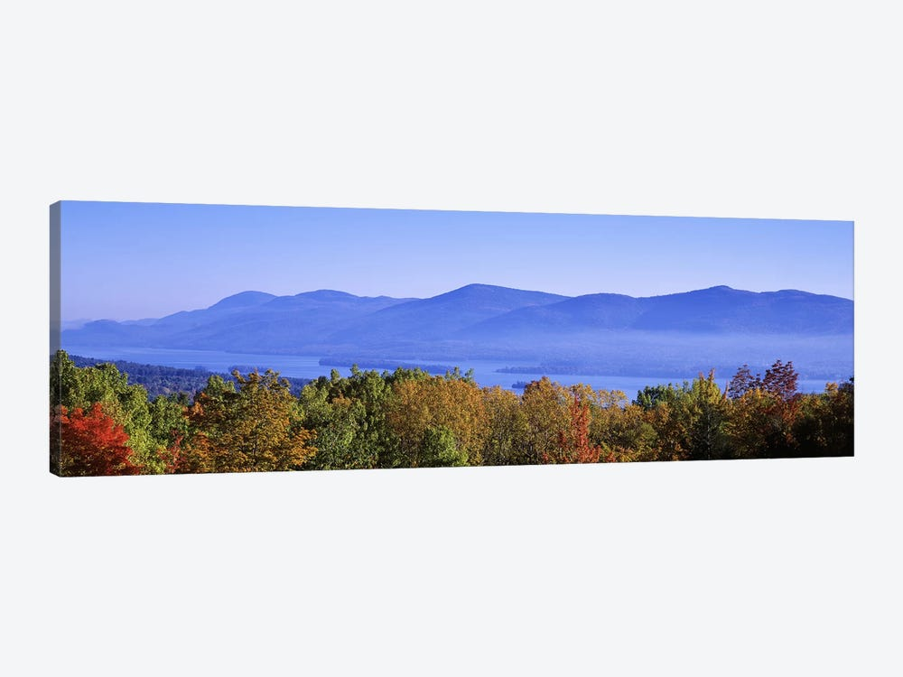 Lake George & Adirondack Mountains, New York, USA by Panoramic Images 1-piece Canvas Wall Art