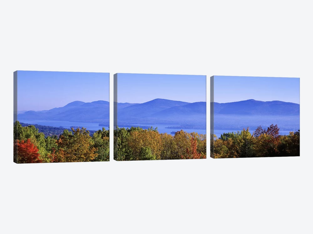 Lake George & Adirondack Mountains, New York, USA by Panoramic Images 3-piece Canvas Artwork