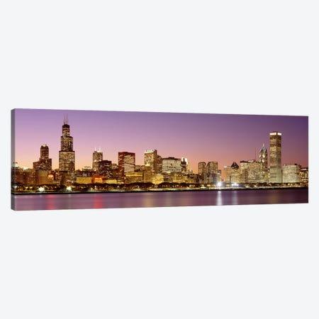 Dusk Skyline Chicago IL USA Canvas Print #PIM2663} by Panoramic Images Canvas Art Print
