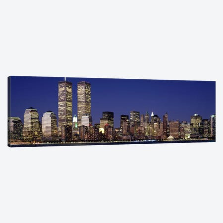 Skyscrapers in a city, World Trade Center, Manhattan, New York City, New York State, USA Canvas Print #PIM2666} by Panoramic Images Canvas Artwork