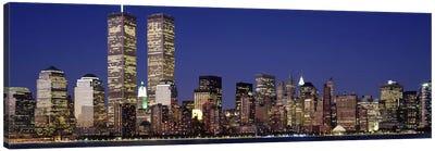 Skyscrapers in a city, World Trade Center, Manhattan, New York City, New York State, USA Canvas Print #PIM2666