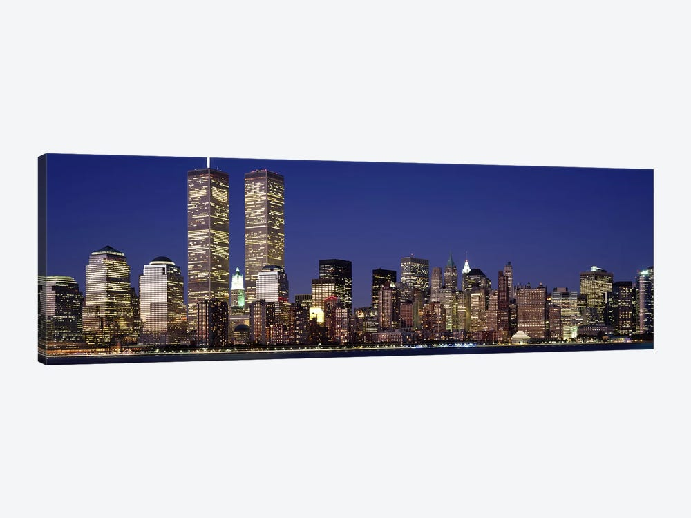 Skyscrapers in a city, World Trade Center, Manhattan, New York City, New York State, USA 1-piece Canvas Art