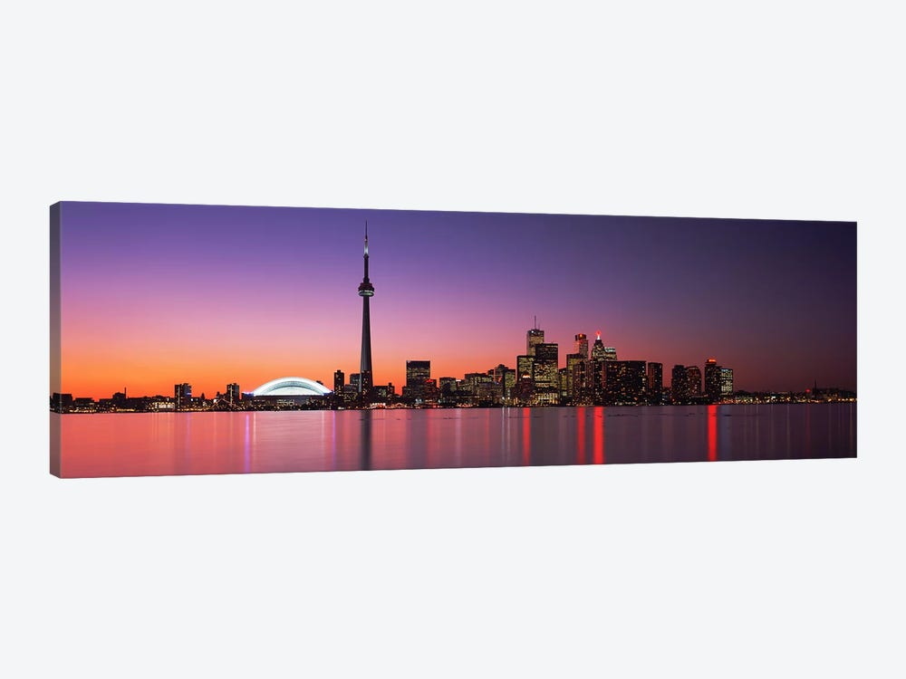Downtown Skyline At Night, Toronto, Ontario, Canada by Panoramic Images 1-piece Art Print