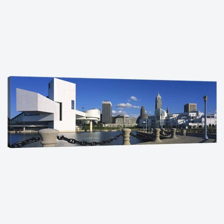 Building at the waterfront, Rock And Roll Hall Of Fame, Cleveland, Ohio, USA Canvas Print #PIM2668} by Panoramic Images Canvas Print