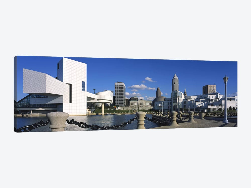 Building at the waterfront, Rock And Roll Hall Of Fame, Cleveland, Ohio, USA by Panoramic Images 1-piece Canvas Artwork