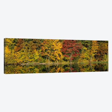 Reflection of trees in waterSaratoga Springs, New York City, New York State, USA Canvas Print #PIM2672} by Panoramic Images Canvas Art
