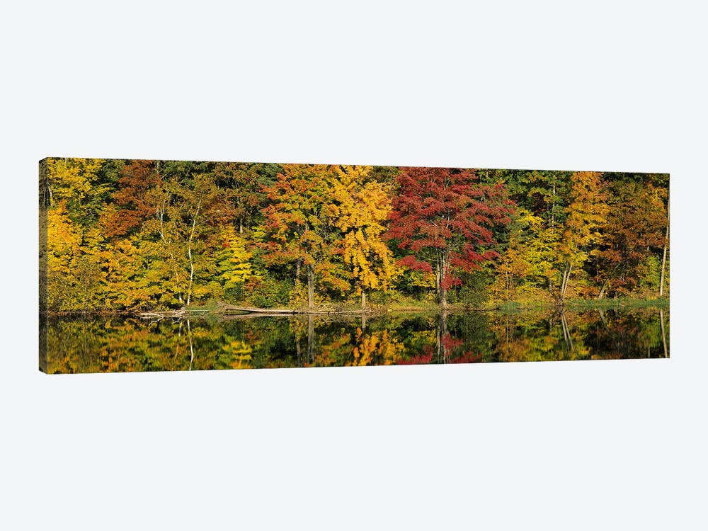 Reflection of trees in waterSaratoga Springs, New York City, New York State, USA by Panoramic Images 1-piece Art Print
