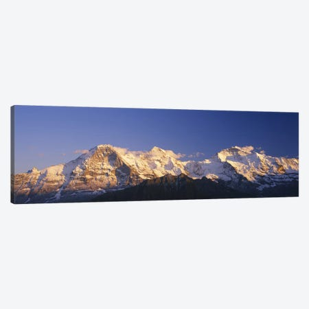 Snowcapped Mountainscape, Bernese Oberland, Switzerland Canvas Print #PIM2674} by Panoramic Images Canvas Print