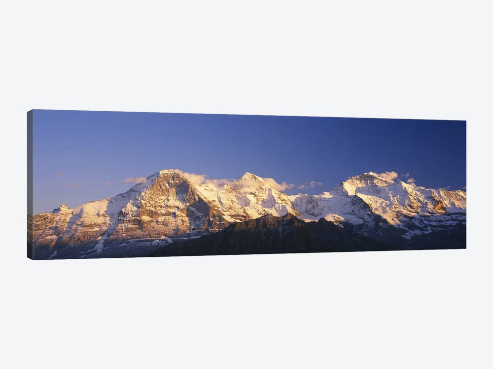 Snowcapped Mountainscape, Bernese Oberland, Switzerland by Panoramic Images 1-piece Canvas Art Print