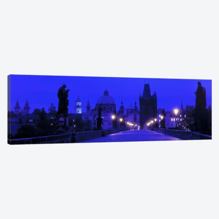 Charles Bridge At Night, Prague, Czech Republic Canvas Print #PIM2679} by Panoramic Images Canvas Art